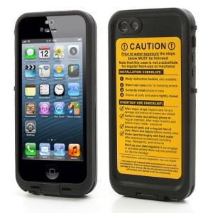 Durable Redpepper Waterproof Case Protective Cover for iPhone 5 - Black