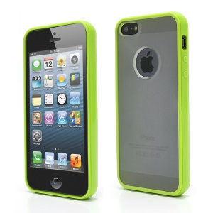 Matte Plastic & TPU Hybrid Case Cover Accessories for iPhone  5 - Green