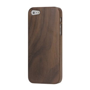Genuine Natural Real Wood Wooden Hard Case Cover for iPhone 5 - Walnut Wood