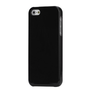 High Glossy Snap-on Hard Plastic Cover Case for iPhone 5 - Black