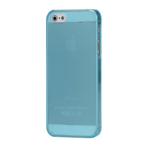 Ultra Thin 0.5mm Frosted Protective Hard Case Cover for iPhone 5 - Translucent Blue
