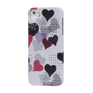 Lovely Hearts Rubberized Hard Case Cover for iPhone 5