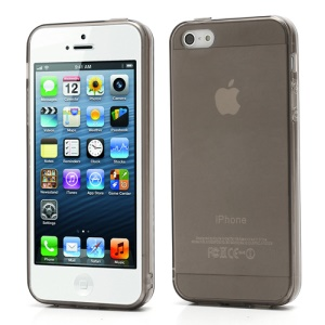 New Arrival Transparent Clear TPU Gel Skin Case for iPhone 5 - Grey