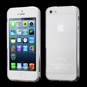 New Arrival Transparent Clear TPU Gel Skin Case for iPhone 5 - Transparent