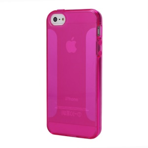 NEW Simple Soft TPU Jelly Case for iPhone 5 - Rose
