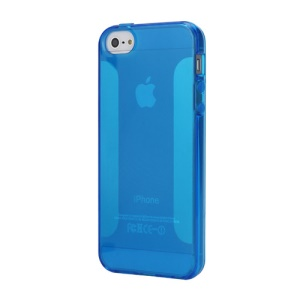 NEW Simple Soft TPU Jelly Case for iPhone 5 - Blue