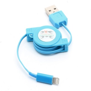 Retractable Charge Sync Data Cable for iPhone 5 / iPod Touch 5 / iPod Nano 7 / iPad Mini / iPad 4 - Blue