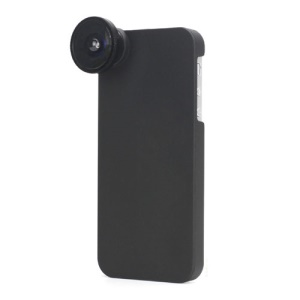 185 Degree Fisheye Wide Angle Optical Lens with Hard Plastic Case for iPhone 5