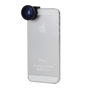 3in1 Fisheye Lens + Wide Angle + Micro Lens Phone Kit Set for iPhone 5 - Black