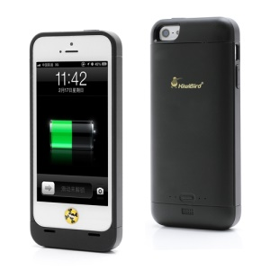 KiwiBird 2000mAh External Backup External Battery Charger Case for iPhone 5 - Black