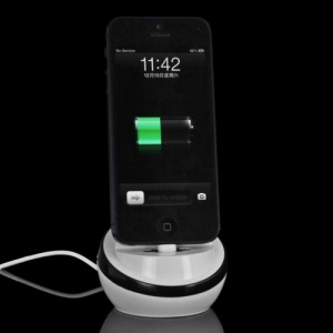 USB Sync Cradle Desktop Dock Charger for iPhone 5 - Black
