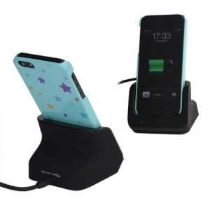 Sync Desktop Charger Station Cradle Dock Docking for iPhone 5 - Black