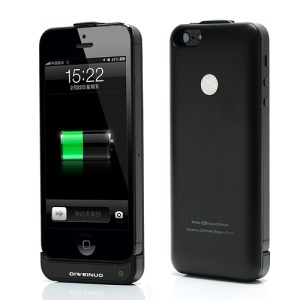 Super Slim 2200mAh Backup Battery External Power Jacket Case for iPhone 5 - Black