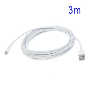 3M Lightning 8PIN to USB Charging Cable Data Cord for iPhone 5, iPad Mini, iPod Touch 5 Nano 7 - White