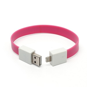 Bracelet Style Lightning to USB Cable for iPhone 5 / iPod touch 5 / iPod nano 7th / iPad 4 / iPad mini - Rose