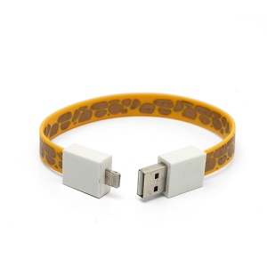 Bracelet Style Lightning to USB Cable for iPhone 5 / iPod touch 5 / iPod nano 7th / iPad 4 / iPad mini - Yellow / Gold