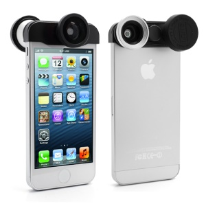 4in1 Detachable Lens Kit Fish Eye Fisheye + Wide Angle + Micro Lens for iPhone 5
