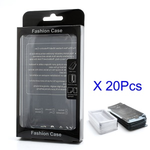 20PCS/Lot Plastic Packing Box with Inner Plastic Cover for iPhone iPod Samsung Cellphone Cases