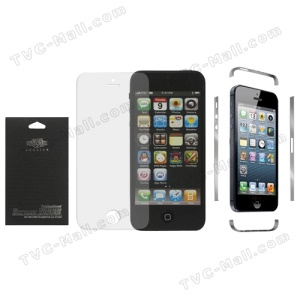 Clear LCD Screen Protection Film for iPhone 5 + Transparent Decal Side Wrap Skin