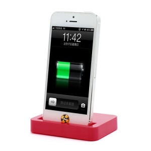 Charging Dock Cradle Charger Docking Station for iPhone 5 - Red