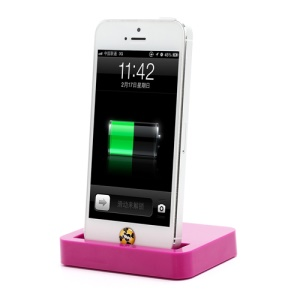 Charging Dock Cradle Charger Docking Station for iPhone 5 - Rose