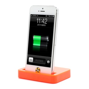 Charging Dock Cradle Charger Docking Station for iPhone 5 - Orange