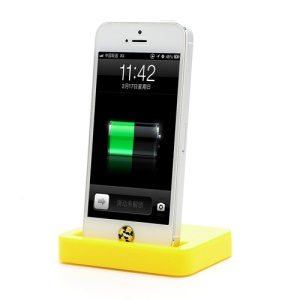 Charging Dock Cradle Charger Docking Station for iPhone 5 - Yellow