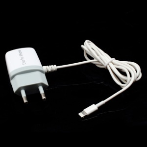 Travel AC Wall Charger Adapter with Lightning Line for iPhone 5 iPad Mini iPad 4 iPod Touch 5 Nano 7 - EU Plug