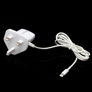 Travel AC Wall Charger Adapter with Lightning Line for iPhone 5 iPad Mini iPad 4 iPod Touch 5 Nano 7 - UK Plug