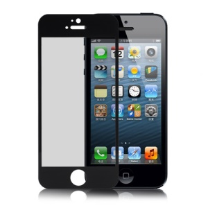 Tempered Glass Protective LCD Screen Guard Film  for iPhone 5 - Black