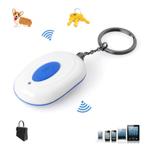 Bluetooth 4.0 Wireless Anti-lost Burglar Safety Alarm KeyChain for iPhone 4S 5 iPad - White