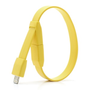 Yellow Bracelet 8-pin Cable Charger Sync Cord for iPhone 5 For iPad Mini For iPod Touch 5 Nano 7