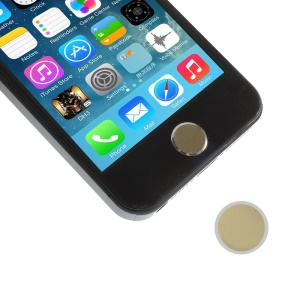 iPhone 5s Button Shaped Aluminum Home Button Sticker for iPhone 5 4S 4 - Gold / Silver