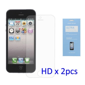2PCS Ultra Clear LCD Screen Protector Film Cover for iPhone 5