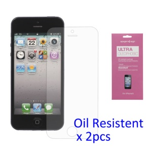 2PCS Oil-resistant  LCD Screen Protector Guard Film for iPhone 5