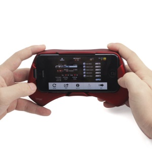 New Game Gamepad Joystick Controller Holder for Apple iPhone 5 - Red