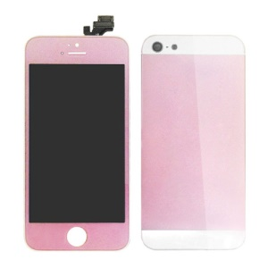 iPhone 5 LCD Assembly w/ Plated Back Cover Housing Faceplates - Pink