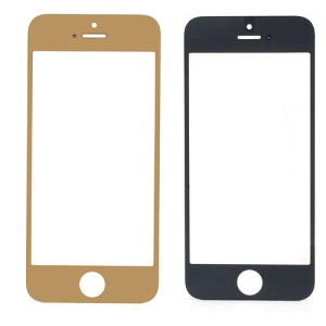 Electroplating Golden Front Outer Screen Glass Lens Replacement for iPhone 5 (Generic)