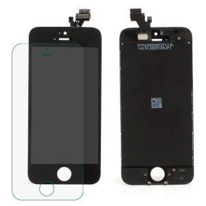 iPhone 5 LCD Assembly with Touch Screen and Digitizer Frame Bezel - Black