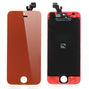 Red For iPhone 5 Electroplating LCD Assembly w/ Touch Screen + Digitizer Frame + Front Camera Holder + Earpiece Mesh + Sensor IC Holder