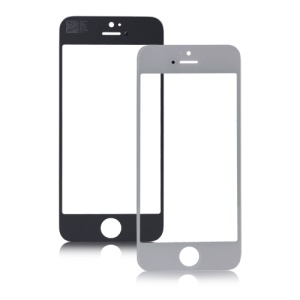 High Quality for iPhone 5 Front Outer Screen Glass Lens Replacement Part - White