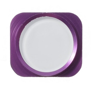 Home Key Button Repair Parts for iPhone 5 - Purple / White