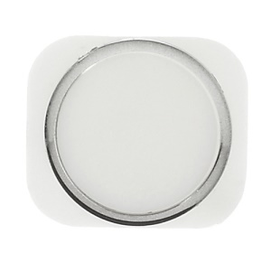For iPhone 5 Home Button Key Replacement Part - Silver / White