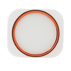For iPhone 5 Home Button Key Repair Parts - Red Orange / White