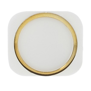 For iPhone 5 Home Button Replacement - Gold / White