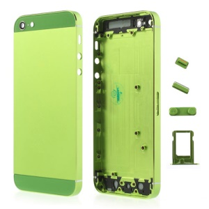 Green Metal Full Housing Faceplates for iPhone 5 w/ Buttons SIM Card Tray