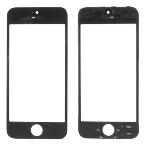 OEM for iPhone 5 Screen Glass Lens with Frame Bezel - Black