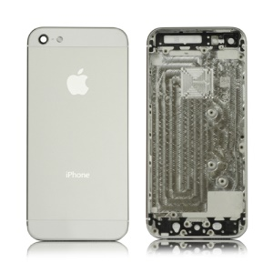 OEM Metal Back Housing Cover with Middle Frame Bezel for iPhone 5 - White