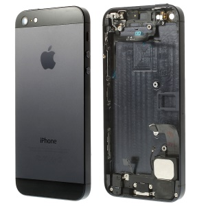 For iPhone 5 Metal Back Cover Housing Assembly with Middle Frame Bezel and Other Parts - Black / Slate (OEM)
