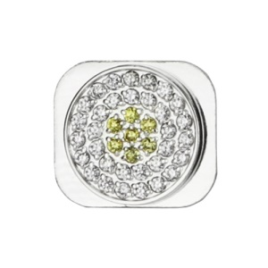 Glittering Rhinestone Home Button Replacement for iPhone 5 - Silver / White / Gold